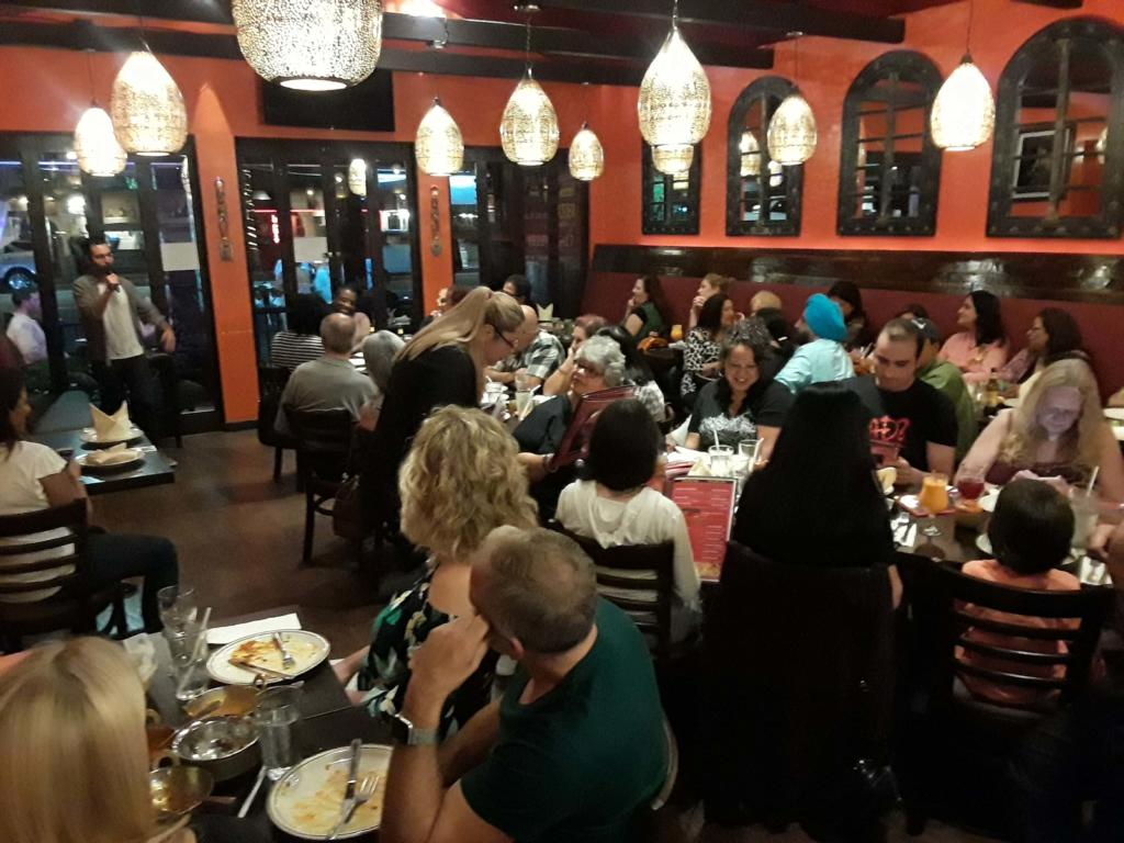 Bollywood Bites Customers Welcome Celebrity Chef Sanjay S New Vegan Entrées Along With Live Stand Up Comedy And Karaoke At His Sherman Oaks California